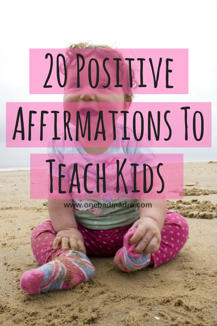20 Positive Affirmations for Kids + Worksheet. #Quotes #Inspiration #Affirmations #Printable #Positive