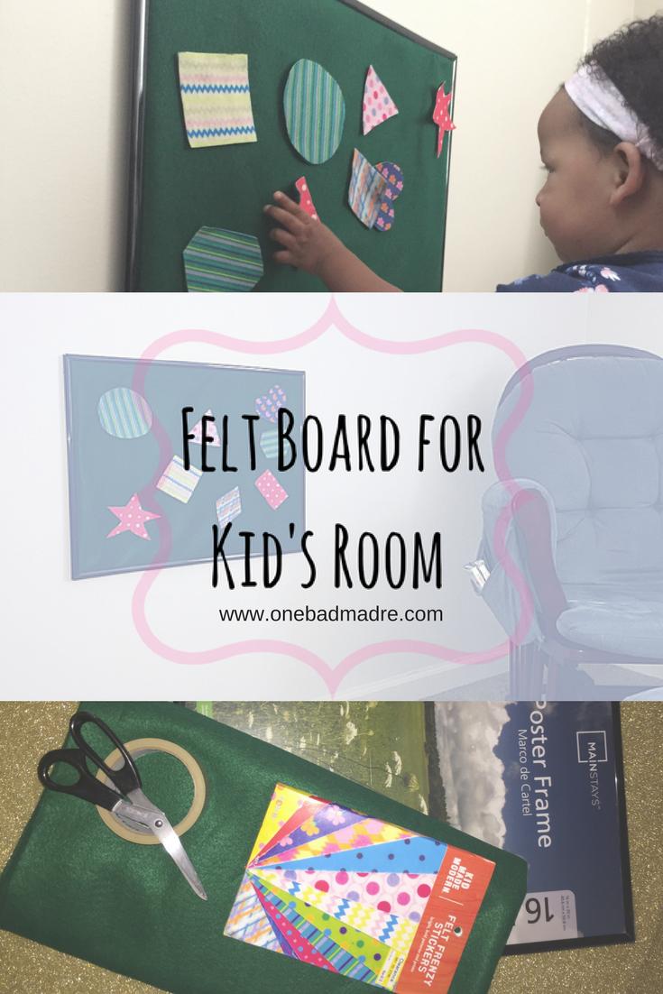 DIY Felt Board For Kids #KidsActivites #Kids #DIYCrafts #FeltBoard